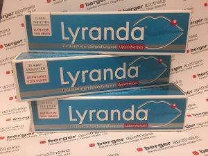 Lyranda Kautablette gegen Lippenherpes